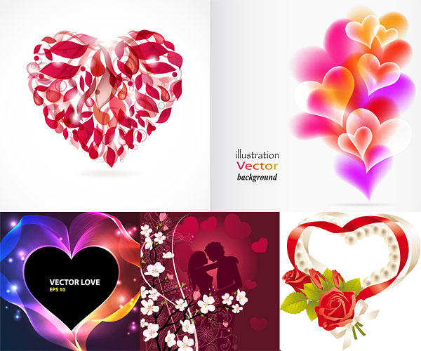 Romantic heart-shaped Vector Graphics