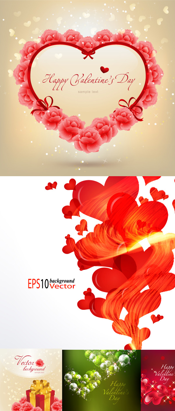 Beautiful Valentine's Day Vector material