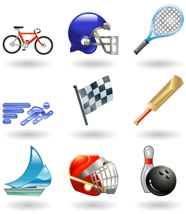 Sports-related icons 01 - Vector