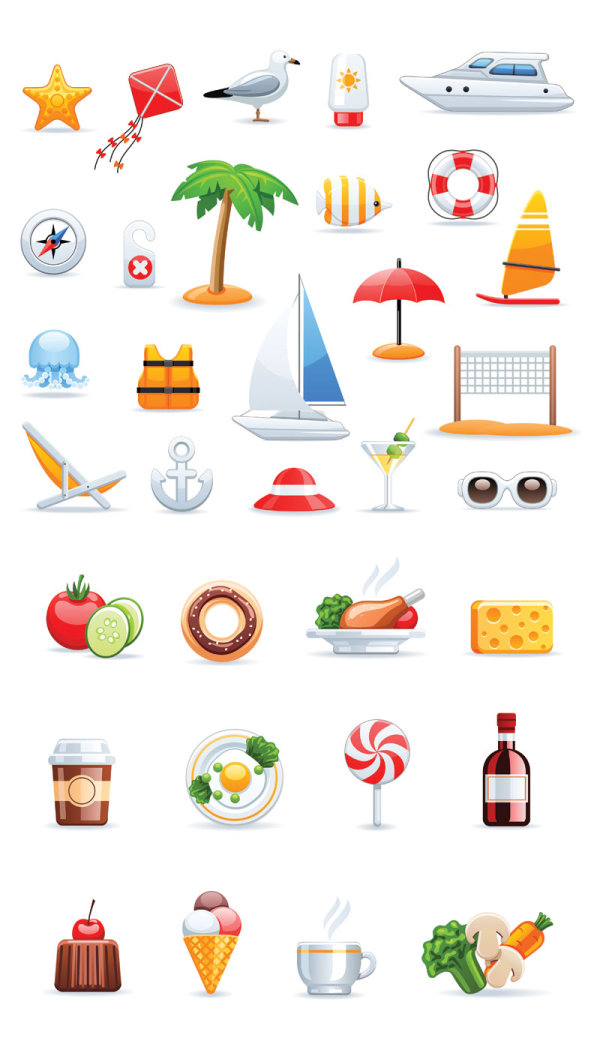 A Variety Of Icon Sets 02 Vector Download Free Vector