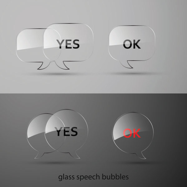 Glass texture button vector material