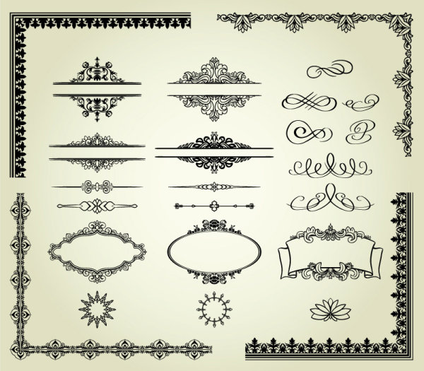 European lace pattern 03 - vector