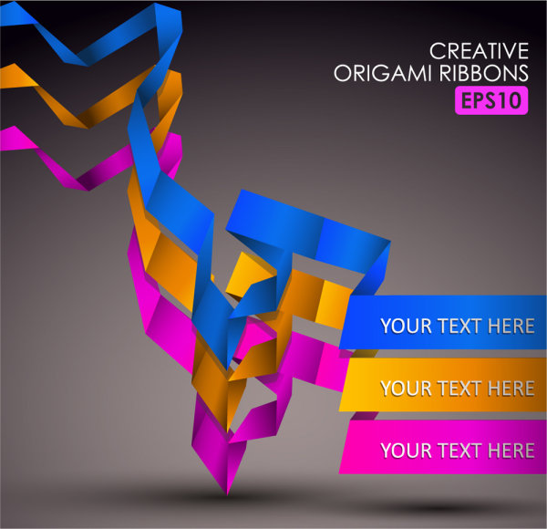 Exquisite color layout material 05 - vector
