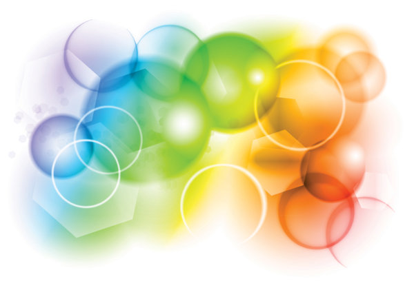 Colorful bubbles background - vector material