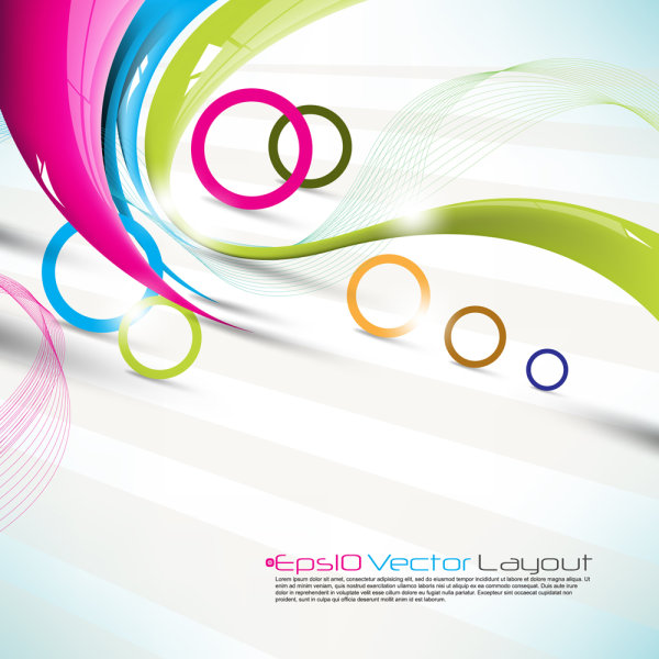 Beautiful colorful background 02-- vector material