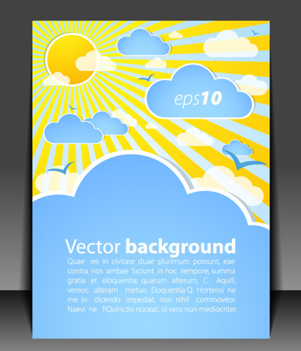 Weather effects Card 01 - vector