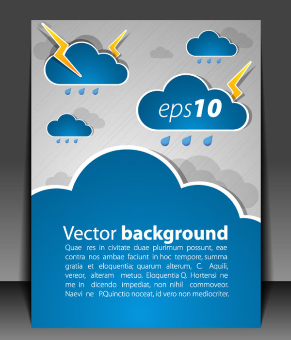 Weather effects card 03-- vector material