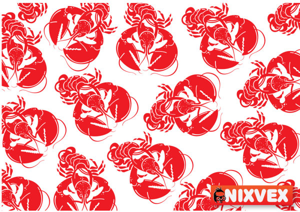 Spicy crawfish - vector material