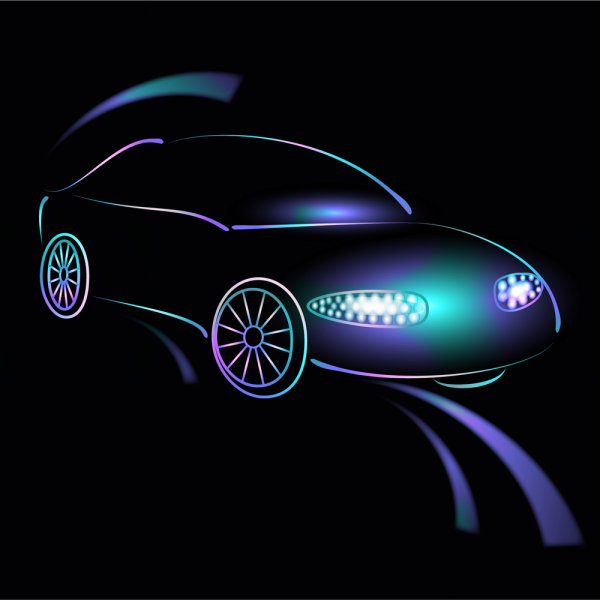 Gorgeous car material 02-vector material