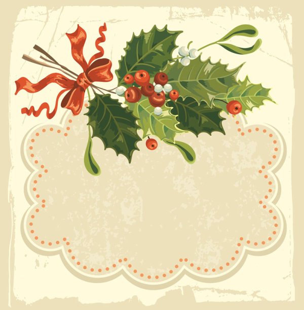 Beautiful Christmas background 03 - vector