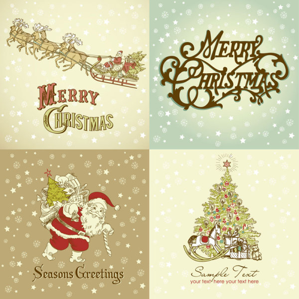 Gorgeous Christmas pattern - vector
