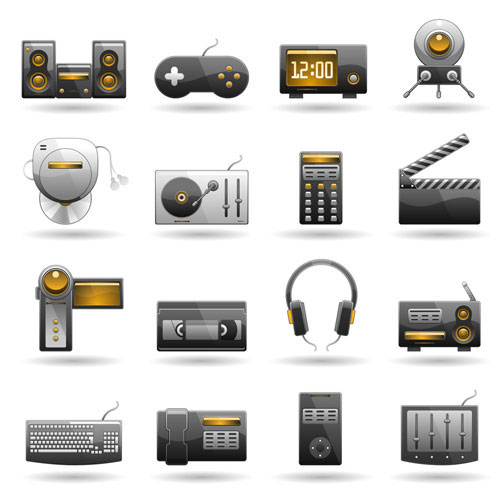 Technology products icon vector material - 02