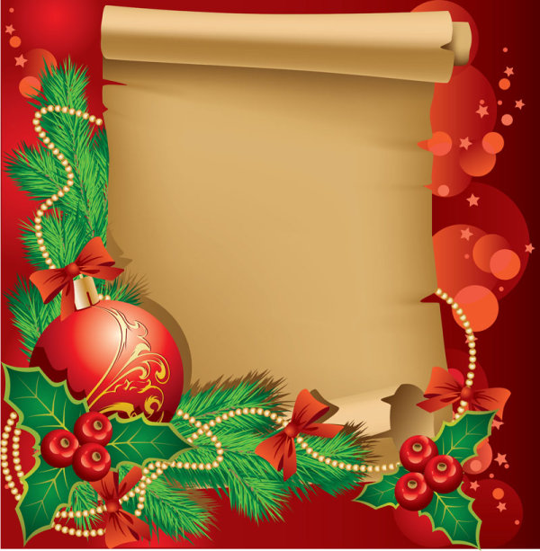 The exquisite Christmas border background 02 - vector material