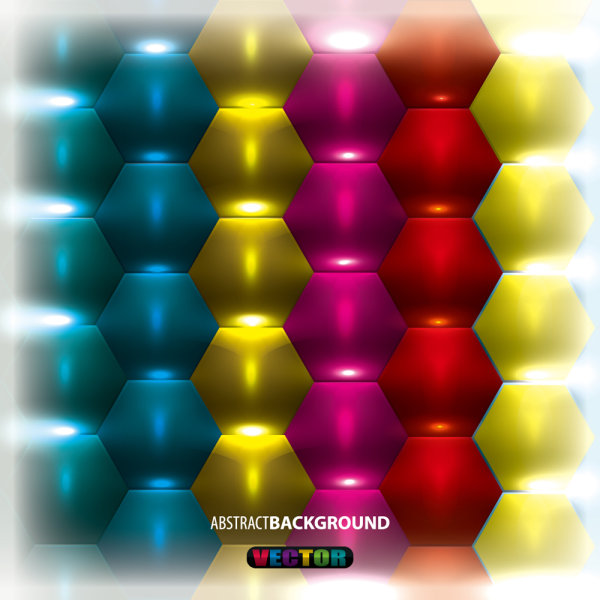 Brilliant three-dimensional background 03 - vector material