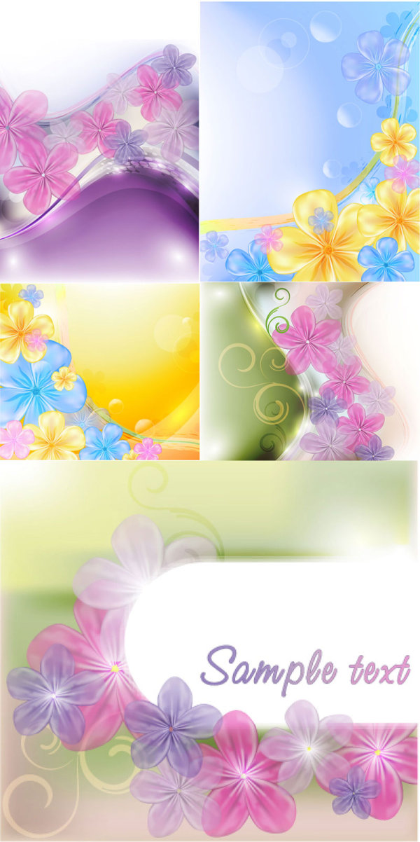 Beautiful flowers background vector material