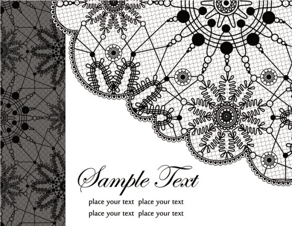 Black and white patterns 03 - vector material