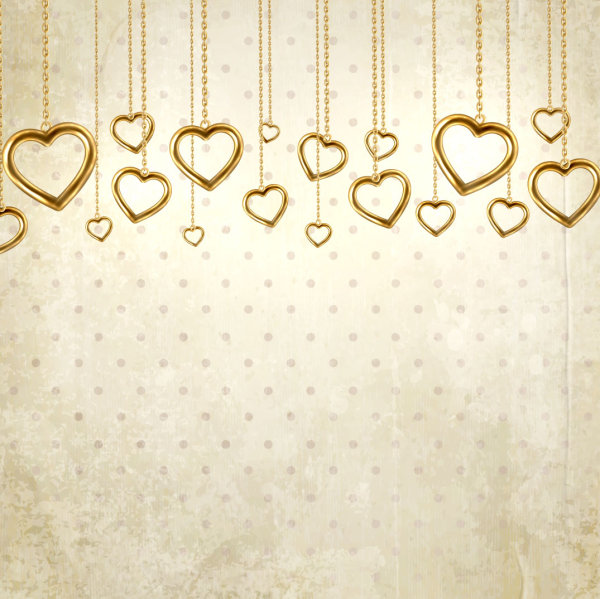 Valentine's Day card background 04 - vector