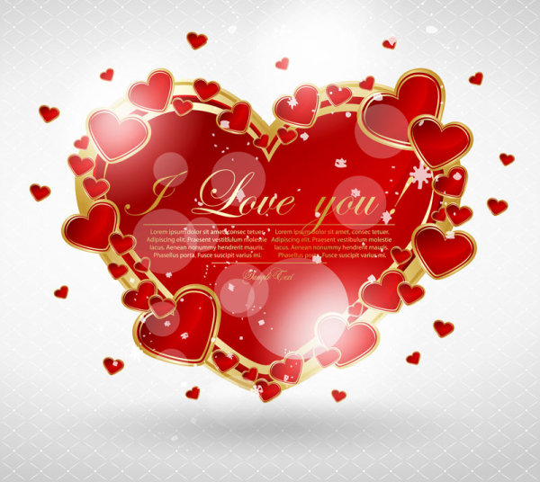 Valentine's Day greeting card 03 - vector material