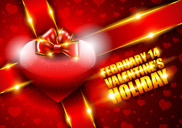 Valentine background 03 - vector material
