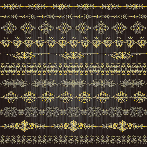 Gold lace pattern 02 - vector material