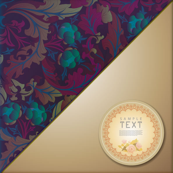 Classic pattern background 04 - vector