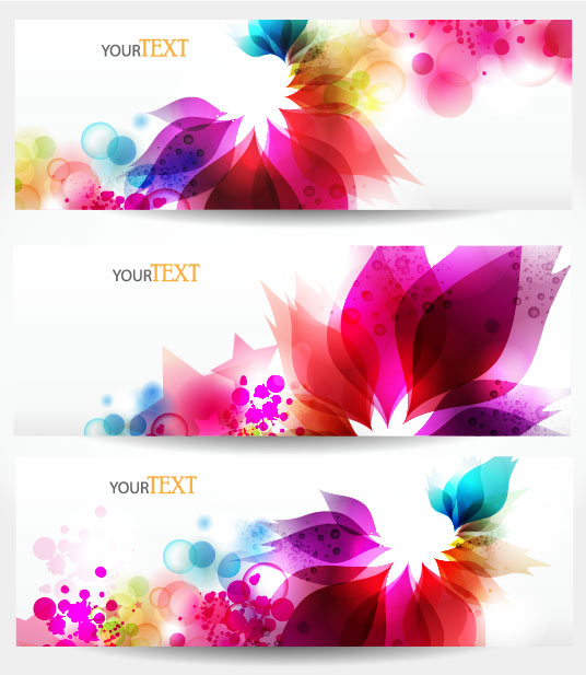 Dynamic trend of the banner 03 - vector material