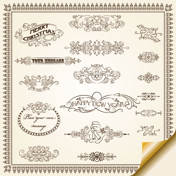 European pattern border 02 - vector material
