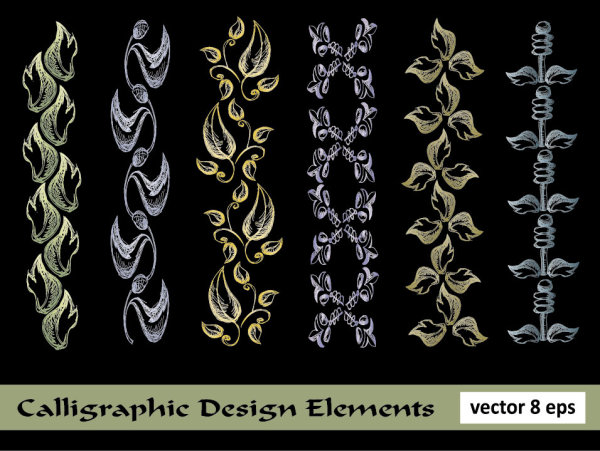 European lace pattern line draft 05 - vector material