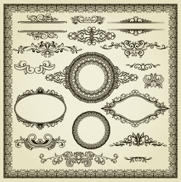 Classic pattern border 01 - vector material