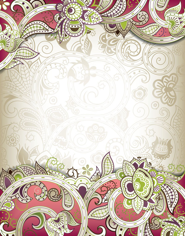 The gorgeous classical pattern vector material -3
