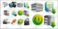 Three-dimensional computer icon vector material