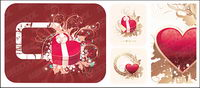 heart-shaped pattern with the pattern vector material