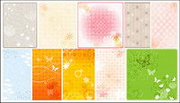 Dream pattern vector background material