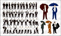 The action of various business men vector material