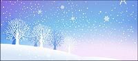 Snow in the winter vector material
