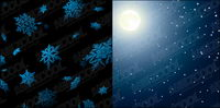 Moonlight and snow vector
