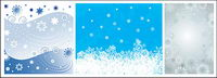 Christmas snowflakes vector background material