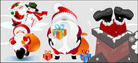 lovely Santa Claus vector material