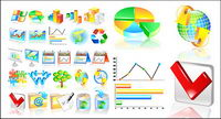 Financial Statistics categories icon vector material
