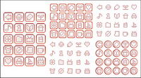 Simple pixel vector graphics material-1