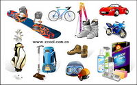 Sports and leisure equipment icon vector material-2