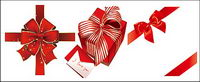 Red ribbon bow gift vector material