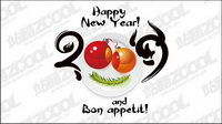 Happy New Year 2009 Vector material