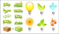 Delicate topic of environmental protection icon vector material