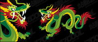 Chinese dragon vector color material