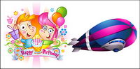 Happy Birthday Child Vector material