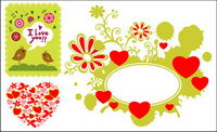 Love theme 3 vector material