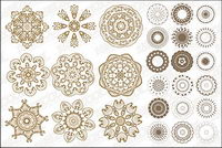 A number of classical circular pattern vector material