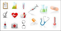 Medical-related icons vector material