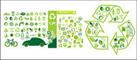 Variety of environmental themes icon vector material